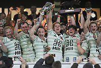 Rugby Union - 2017 Varsity Match - Oxford University vs. Cambridge University<br /> <br /> Charlie Amesbury - Cambridge Captain lifts the trophy with his team mates at Twickenham.<br /> <br /> COLORSPORT/ANDREW COWIE