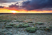 Red Desert of Southwest Wyoming at sunset