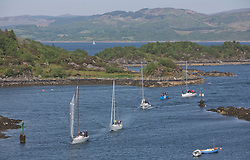 Sailing - SCOTLAND  - 27th May 2018<br /> <br /> 3rd days racing the Scottish Series 2018, organised by the  Clyde Cruising Club, with racing on Loch Fyne from 25th-28th May 2018<br /> <br /> Tarbert Harbour<br /> <br /> Credit : Marc Turner<br /> <br /> Event is supported by Helly Hansen, Luddon, Silvers Marine, Tunnocks, Hempel and Argyll & Bute Council along with Bowmore, The Botanist and The Botanist