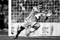 Real Madrid¥s Iker Casillas during a Spain King Cup soccer match between Real Madrid and Osasuna at Santiago Bernabeu Stadium in Madrid, Spain. January 09, 2014. (ALTERPHOTOS/Caro Marin)(EDITORS NOTE: This image has been converted to black and white)