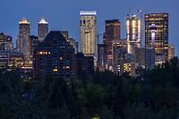 Calgary Skyline from Roxboro Park, Morning