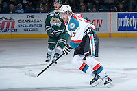 KELOWNA, CANADA - JANUARY 22: Marek Tvrdon #17 of the Kelowna Rockets skates against the Everett Silvertips on January 22, 2014 at Prospera Place in Kelowna, British Columbia, Canada.   (Photo by Marissa Baecker/Getty Images)  *** Local Caption *** Marek Tvrdon;