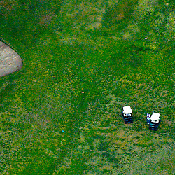 AErial of Golfers and Cart