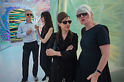 MICHAEL LANDY; GILLIAN WEARING; MAUREEN PALEY; MONIKA SPRUTH Serpentine's Summer party co-hosted with Christopher Kane. 15th Serpentine Pavilion designed by Spanish architects Selgascano. Kensington Gardens. London. 2 July 2015.