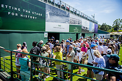 July 2, 2018 - London, United Kingdom - 180702 Crowds stand in line to enter the stands during day 1 of Wimbledon on July 2, 2018 in London..Photo: Ludvig Thunman / BILDBYRN / kod LT / 35496 (Credit Image: © Ludvig Thunman/Bildbyran via ZUMA Press)