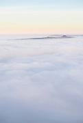 Win Hill pokes through the mist like a submarine