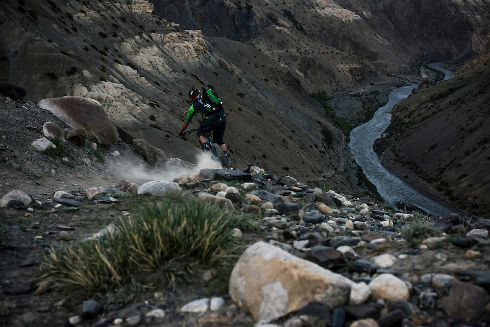 Matt Hunter, final descent on day 1 of our 12 day Afghanistan expedition.