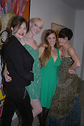 Jasmine Guinness, Jade Parfait, Zita Lloyd and Erin O'Connor. Silent auction reception in aid of the Aids charity  Clothesline.  The Hospital. London. 19  September 2005. ONE TIME USE ONLY - DO NOT ARCHIVE © Copyright Photograph by Dafydd Jones 66 Stockwell Park Rd. London SW9 0DA Tel 020 7733 0108 www.dafjones.com