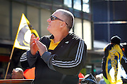 Hurricanes coach Chris Boyd during the Victory Parade for the Super Rugby Championship winning Hurricanes. Wellington, New Zealand. 10th August 2016. © Copyright Photo: Grant Down / www.photosport.nz