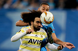 February 21, 2019 - Saint Petersburg, Russia - Fenerbahce's Turkish defender Sadik Ciftpinar in action during the UEFA Europa League round of 32 second leg football match between FC Zenit and Fenerbahce SK in Saint Petersburg on February 21, 2019. (Credit Image: © Igor Russak/NurPhoto via ZUMA Press)