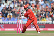 Aaron Lilley of Lancashire Lightning batting during the Vitality T20 Finals Day Semi Final 2018 match between Worcestershire Rapids and Lancashire Lightning at Edgbaston, Birmingham, United Kingdom on 15 September 2018.