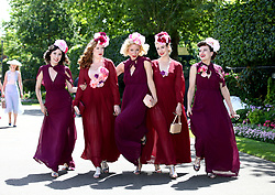 The Tootsie Rollers arrive during day five of Royal Ascot at Ascot Racecourse.