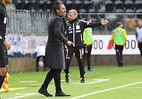 Fotball , 27. april 2019 , 1. divisjon , Obosligaen , Start - Sandefjord<br />  trener Marti Cifuentes  , Sandefjord