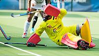 BRUXELLES (Belgium) -  keeper Maria RUIZ (SPA)   during Hockey World League women (semi final competition)  SPAIN v MALAYSIA .  COPYRIGHT KOEN SUYK