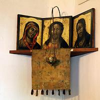 Europe, Russia, Suzdal. Icons of Pokrovsky monastery.