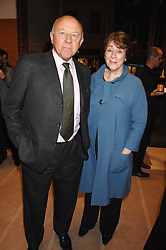 SIR JOHN & LADY TUSA at a reception to launch the 2007 Louis Vuitton Christmas windows in collaboration with Central Saint Martins College of Art & Design held at 17-18 New Bond Street, London W1 on 7th November 2007.<br />