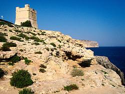 MALTA WIED IZ ZURRIEQ 23JUL06 - The Knight's tower near Wied Iz Zurrieq...jre/Photo by Jiri Rezac..© Jiri Rezac 2006..Contact: +44 (0) 7050 110 417.Mobile:  +44 (0) 7801 337 683.Office:  +44 (0) 20 8968 9635..Email:   jiri@jirirezac.com.Web:    www.jirirezac.com
