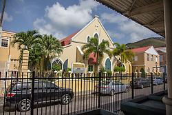 Christchurch Methodist Church.  The Virgin Islands Economic Development Association Enterprise & Commercial Zone Commission hosts a historical tour through the Savan (Savanne) neighborhood.   St. Thomas, US Virgin Islands.  9 July 2015.  © Aisha-Zakiya Boyd