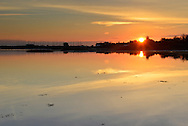 Sunset over Langstone Harbour, Hampshire, Uk