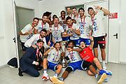 Team Banco di Sardegna Dinamo Sassari, Spogliatoi<br /> Banco di Sardegna Dinamo Sassari - Umana Reyer Venezia<br /> Finale Zurich Connect Supercoppa LBA 2019<br /> Bari, 22/09/2019<br /> Foto L.Canu / Ciamillo-Castoria