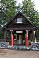 The historic Longmire Service Station at Longmire in Mount Rainier National Park, Washington State, USA