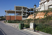 Unfinished and abandoned construction project in the town of Gogollos Vega, near Granada.