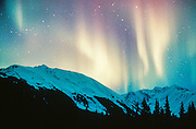 Alaska. Northern lights (Aurora borealis).