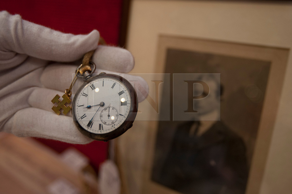 © licensed to London News Pictures. London, UK 22/03/2012. The watch, which was given to Captain Scott's son after his lost, going to be sold on March 30th by Bonhams, London. Photo credit: Tolga Akmen/LNP