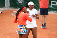 Cori Coco Gauff of USA, Venus Williams of USA during day 4 of the French Open 2021, Grand Slam tennis tournament on June 2, 2021 at Roland-Garros stadium in Paris, France - Photo Jean Catuffe / ProSportsImages / DPPI