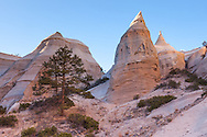 "Kasha-Katuwe Tent Rocks National Monument, managed by BLM, (Kasha-Katuwe means ""white cliffs"" in Keresan language of Cochiti Pueblo), New Mexico"