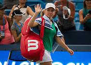 Simona Halep of Romania celebrates winning the semi-final of the 2018 Western and Southern Open WTA Premier 5 tennis tournament, Cincinnati, Ohio, USA, on August 18th 2018, Photo Rob Prange / SpainProSportsImages / DPPI / ProSportsImages / DPPI