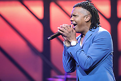 October 16, 2018 - Nashville, TN, U.S. - NASHVILLE, TN - OCTOBER 16: Michael Tait of Newsboys (United) performs during the 49th Annual Dove Awards on October 16, 2018, at Allen Arena in Nashville, TN. (Photo by Jamie Gilliam/Icon Sportswire) (Credit Image: © Jamie Gilliam/Icon SMI via ZUMA Press)