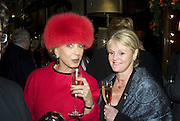 SONIA EXCELL AND VALERIE STOGDALE,  Joan Collins Turns On Burlington Arcade Christmas Lights, PICCADILLY, LONDON - NOVEMBER 20 2007. -DO NOT ARCHIVE-© Copyright Photograph by Dafydd Jones. 248 Clapham Rd. London SW9 0PZ. Tel 0207 820 0771. www.dafjones.com.