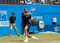 Tennis - 2017 Aegon Championships [Queen's Club Championship] - Day Four, Thursday <br /> <br /> Men's Singles: Round of 16 - Marin Cilic (CRO) Vs Stefan Kozlov (USA)<br /> <br /> Marin Cilic (CRO) at Queens Club<br /> <br /> COLORSPORT/DANIEL BEARHAM