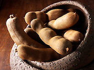 Whole tamarind Indian spices - stock Photos