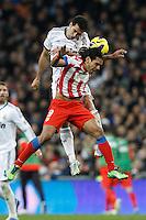 01.12.2012 SPAIN -  La Liga 12/13 Matchday 14th  match played between Real Madrid CF vs  Atletico de Madrid (2-0) at Santiago Bernabeu stadium. The picture show Radamel Falcao Garcia (Colombian striker of At. Madrid)