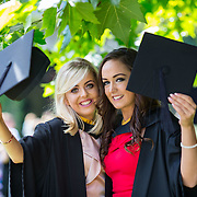 """25.08.2016          <br />  Faculty of Business, Kemmy Business School graduations at the University of Limerick today. <br /> <br /> Attending the conferring were Bachelor of Business Studies graduates, Nicole Freeman, Portroe Co. Tipperary and Alicia Collins, Glinsk Co. Galway. Picture: Alan Place<br /> <br /> <br /> As the University of Limerick commences four days of conferring ceremonies which will see 2568 students graduate, including 50 PhD graduates, UL President, Professor Don Barry highlighted the continued demand for UL graduates by employers; """"Traditionally UL's Graduate Employment figures trend well above the national average. Despite the challenging environment, UL's graduate employment rate for 2015 primary degree-holders is now 14% higher than the HEA's most recently-available national average figure which is 58% for 2014"""". The survey of UL's 2015 graduates showed that 92% are either employed or pursuing further study."""" Picture: Alan Place"""