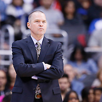 23 November 2013: Sacramento Kings head coach Michael Malone is seen during the Los Angeles Clippers 103-102 victory over the Sacramento Kings at the Staples Center, Los Angeles, California, USA.