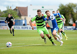 Bristol Rovers' Matt Taylor battles for the ball with Forest Green Rovers's Danny Coles - Photo mandatory by-line: Alex James/JMP - Mobile: 07966 386802 - 03/05/2015 - SPORT - Football - Bristol - Memorial Stadium - Bristol Rovers v Forest Green Rovers - Vanarama Football Conference