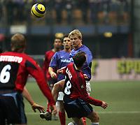 Fotball, 02. desember 2004,  Royal League, Vålerenga - Djurgården, Steffen Iversen Vålerenga og Tobias Hysén , Djurgården