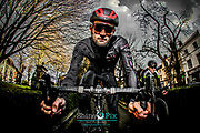 Newport's Nocturne Nighttime cycle race launch photography in Newport, Shropshire. Picture by Shaun Fellows / Shine Pix