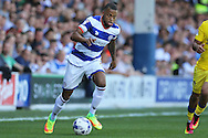 Jordan Cousins of QPR in action. Skybet EFL championship match, Queens Park Rangers v Leeds United at Loftus Road Stadium in London on Sunday 7th August 2016.<br /> pic by John Patrick Fletcher, Andrew Orchard sports photography.