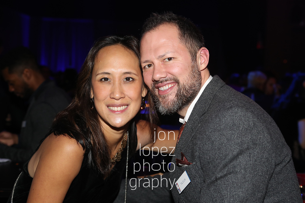 NEW YORK, NY. December 5, 2018. NBA holiday party at the Hammerstein Ballroom in New York City. NOTE TO USER: Mandatory Copyright Notice: Photo by Jon Lopez