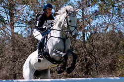 March 22, 2019 - Raeford, North Carolina, US - March 23, 2019 - Raeford, N.C., USA - ELINOR O'NEAL of the United States riding ZETA competes in the cross country CCI-4S division at the sixth annual Cloud 11-Gavilan North LLC Carolina International CCI and Horse Trial, at Carolina Horse Park. The Carolina International CCI and Horse Trial is one of North AmericaÃ•s premier eventing competitions for national and international eventing combinations, hosting International competition at the CCI2*-S through CCI4*-S levels and National levels of Training through Advanced. (Credit Image: © Timothy L. Hale/ZUMA Wire)