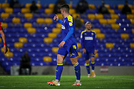 AFC Wimbledon midfielder Anthony Hartigan (8) giving thumbs up during the EFL Sky Bet League 1 match between AFC Wimbledon and Doncaster Rovers at Plough Lane, London, United Kingdom on 3 November 2020. The first League match at the new stadium.
