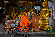 Situated in the heart of Bangkok, near the famous Golden swing, is a series of streets and alleyways dedicated to the manufacture of Buddhist and Hindu icons together with other religious paraphernalia.