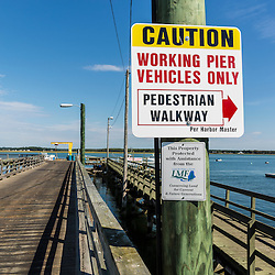 The commercial fishing pier at Pine Point in Scarborough, Maine.