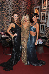 Left to right, UNA HEALY, MOLLIE KING and FRANKIE SANDFORD at a party hosted by Roberto Cavalli to celebrate his new Boutique's opening at 22 Sloane Street, London followed by a party at Battersea Power Station, London SW8 on 17th September 2011.