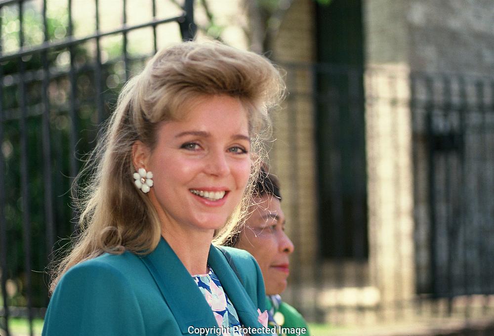 Queen Noor of Jordan in Washington in April 1989<br />Photo by <br />Dennis Brack  70