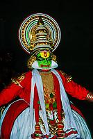 Kathakali dancer (at See India Foundation), Kochi (Cochin), Kerala, India